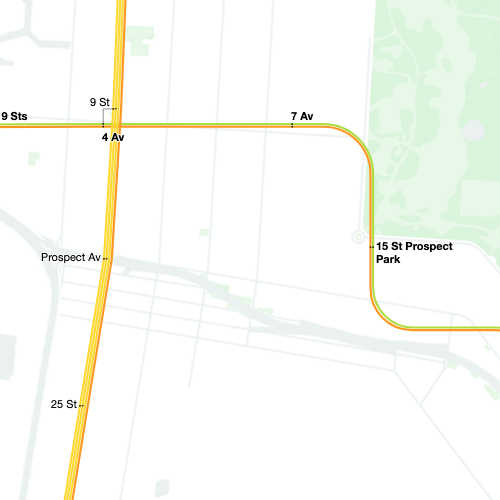 A screenshot of the MTA map.