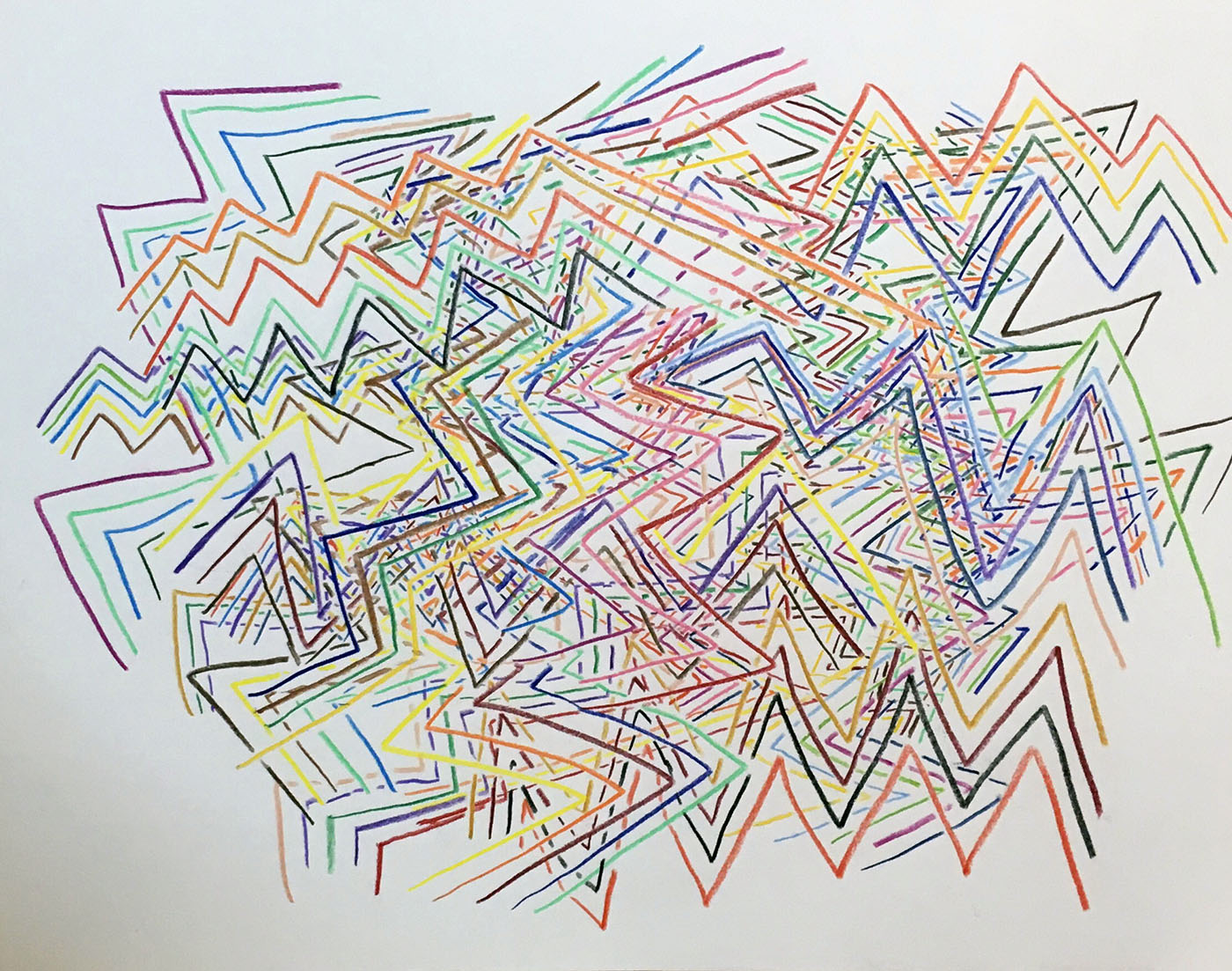 A drawing of overlapping lines